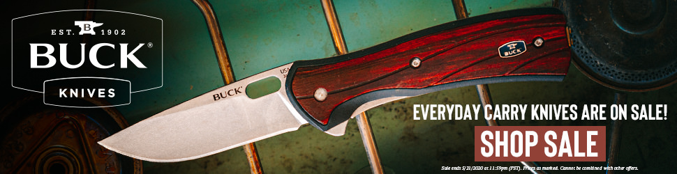 Banner ad for Buck Knives by Justin Baar